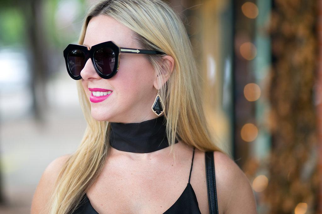 Karen Walker Sunglasses on Nicole Kirk