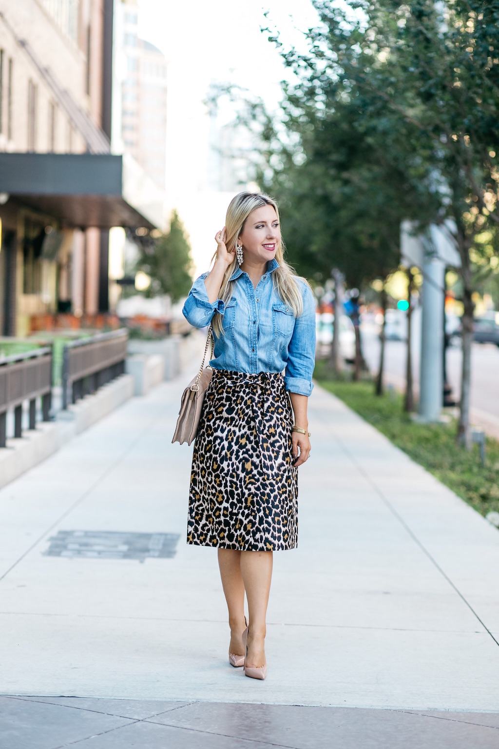 Chambray | Leopard Print