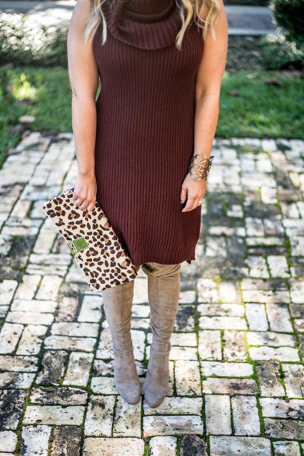 Sweater Dress | Leopart Print