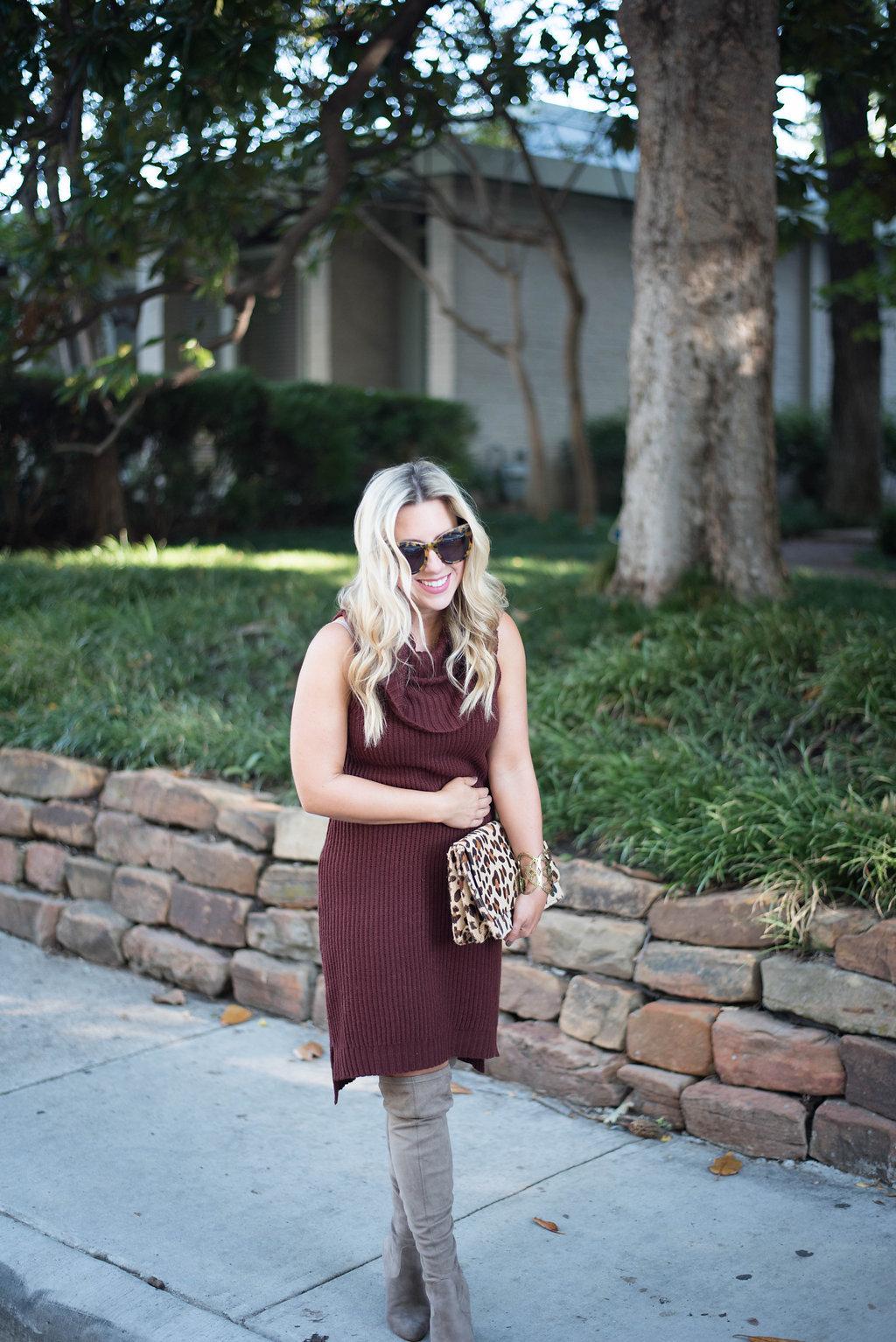 Sweater Dress | Nicole Kirk| Dallas