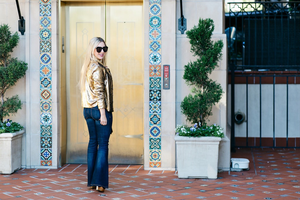 Gold Sequin + Denim | Blogger