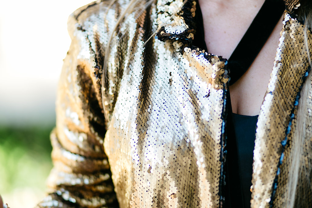 Holiday Sequin Jacket | Blogger