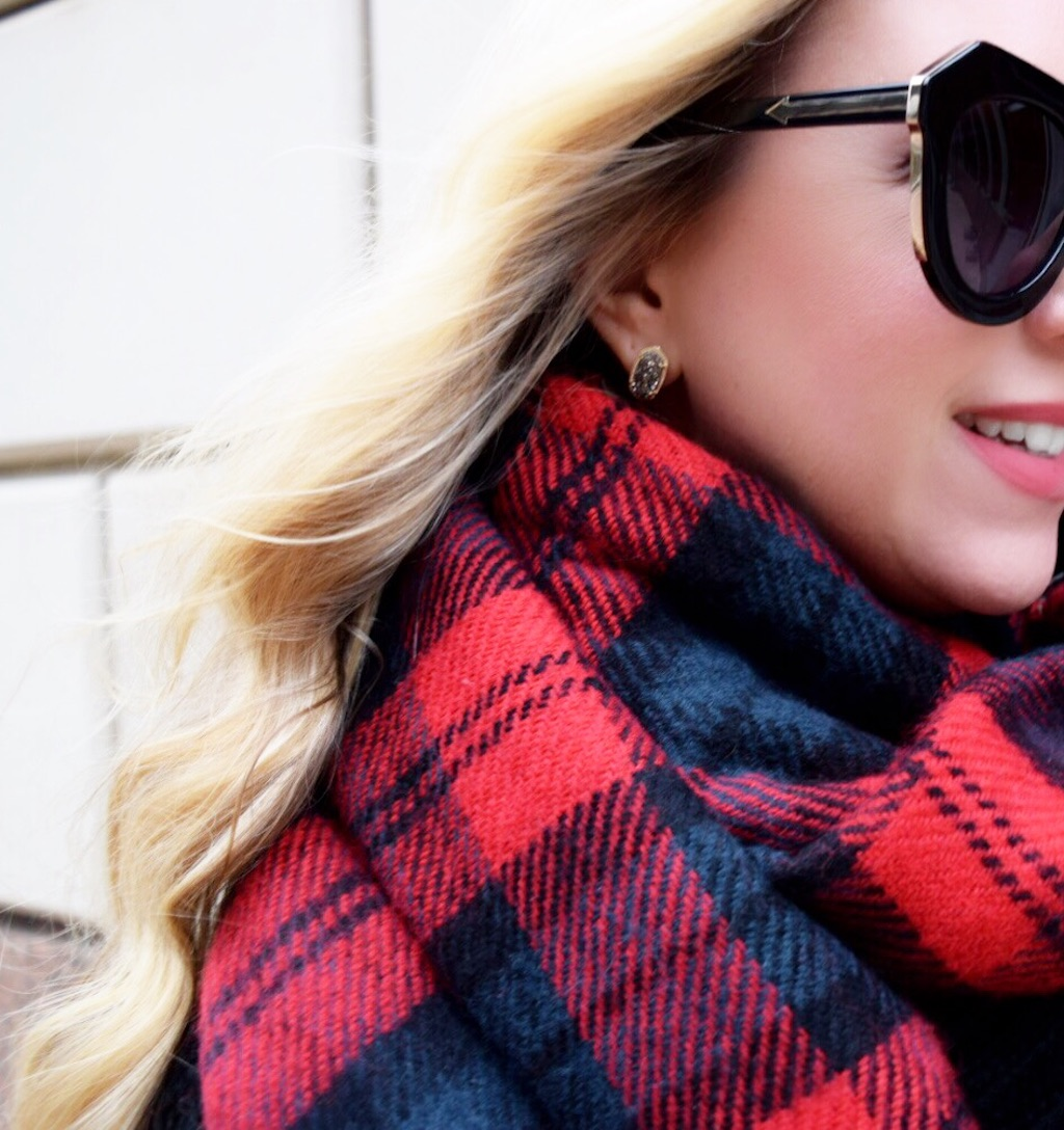 Plaid Scarf | The Darling Petite Diva