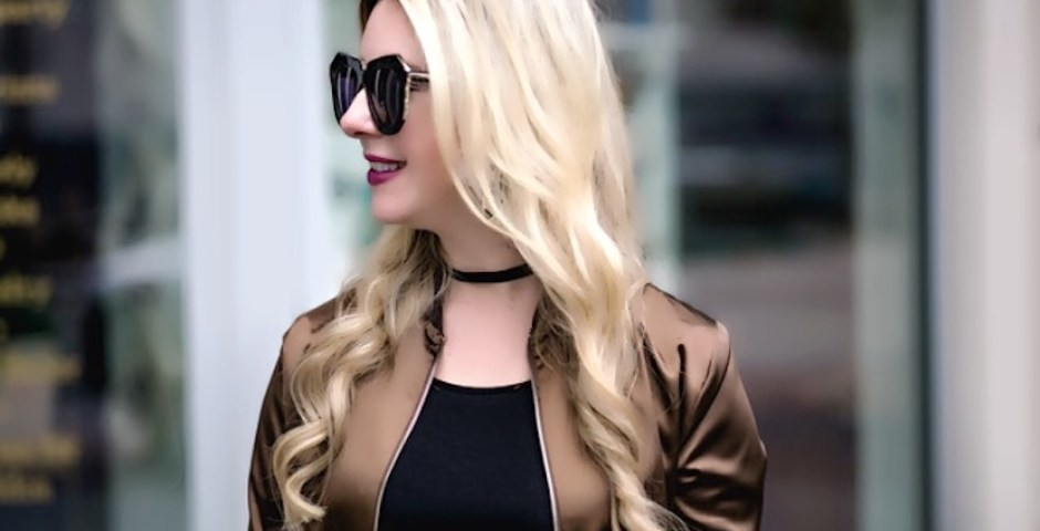The Darling Petite Diva| Satin Bomber Jacket