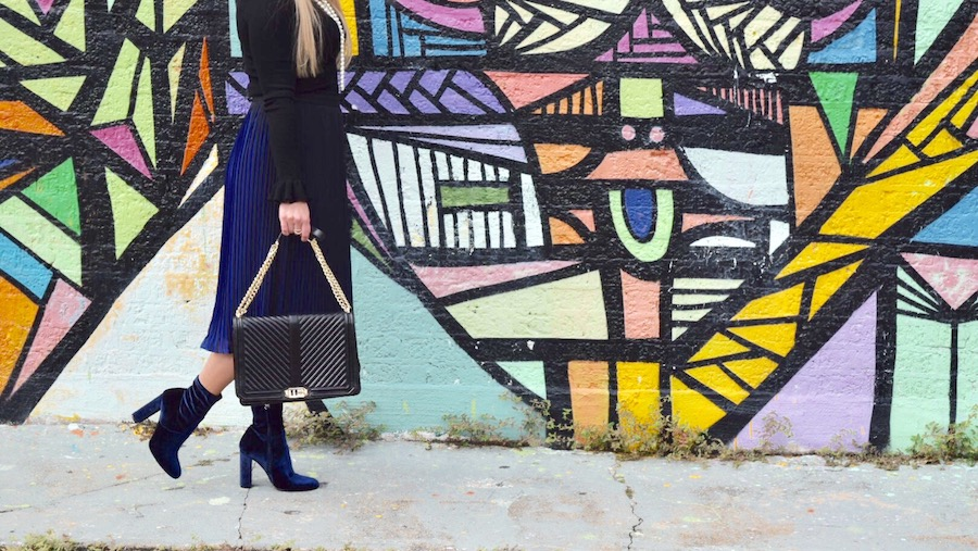 Winter Blues | Blue Skirt