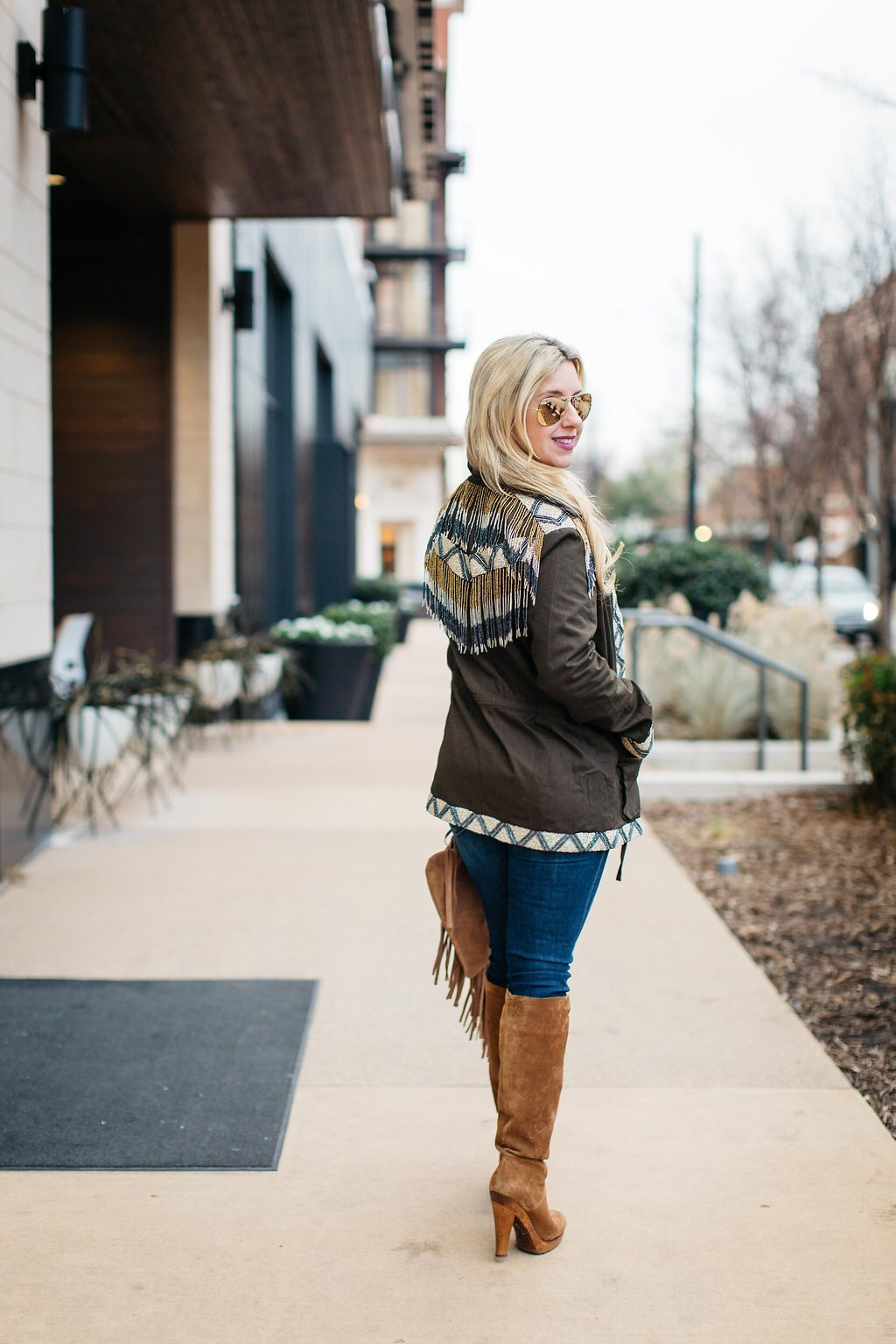 Embellished Cargo Jacket | Dallas Fashion