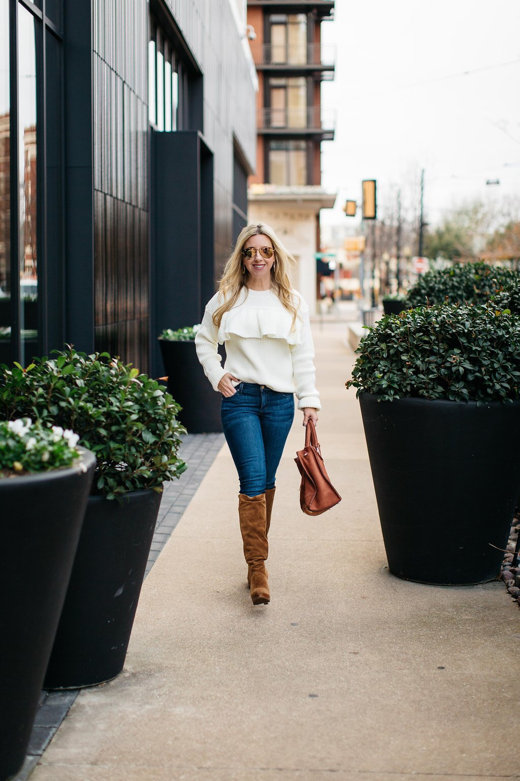 Winter White | Chunky knit sweater