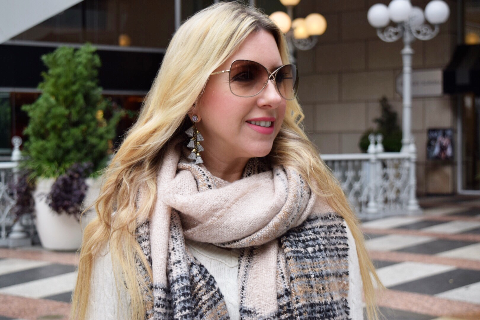 The Darling Petite Diva | Plaid Scarf