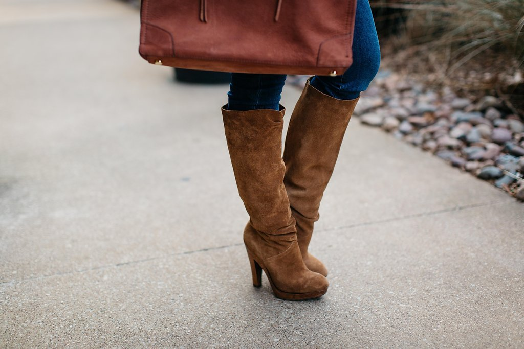 Winter Style | Brown Suede