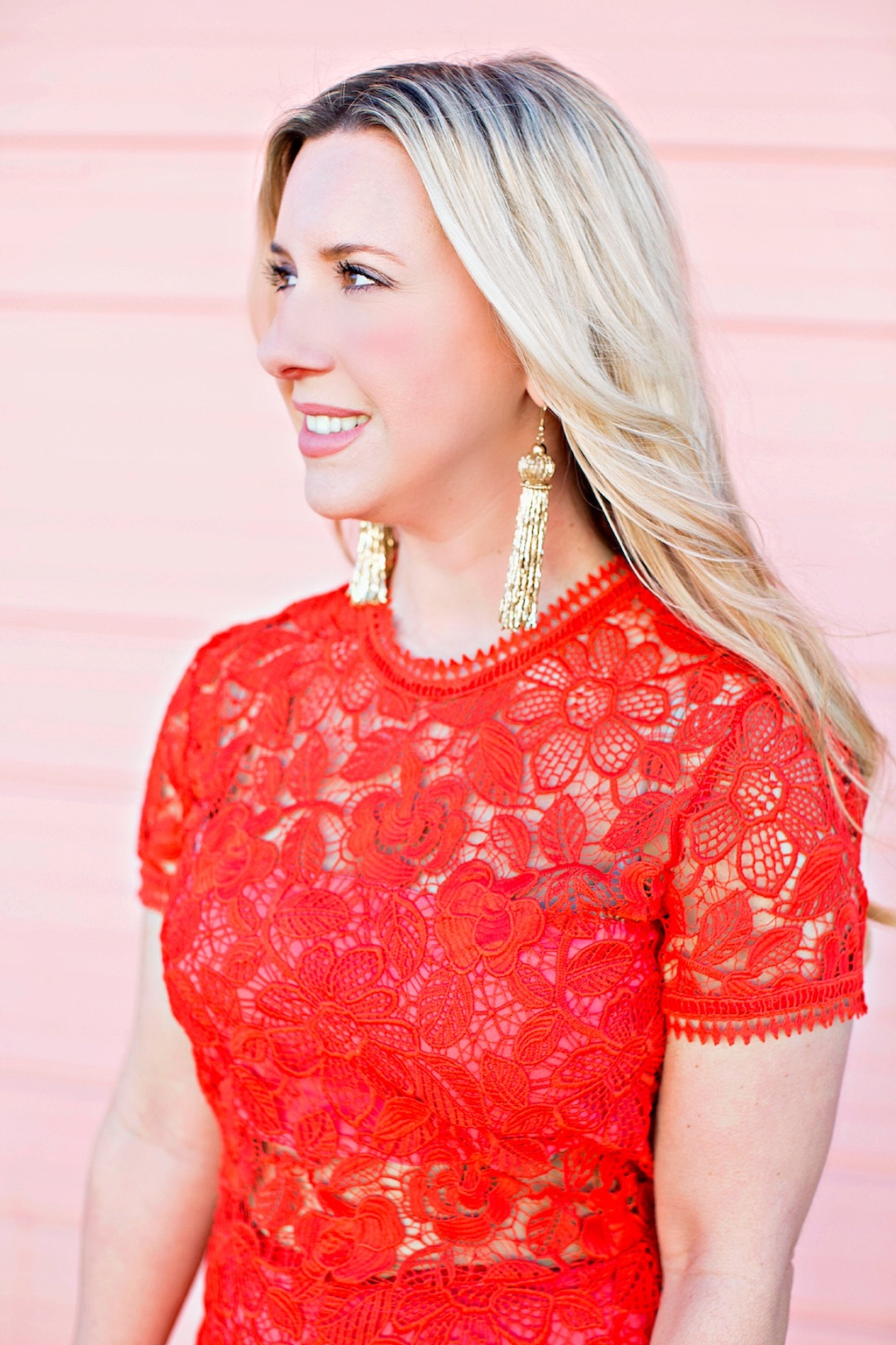 Valentine's Day | Red Lace Dress