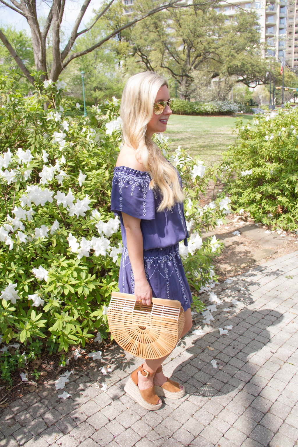The Off The Shoulder Dress For Spring | The Darling Petite Diva | Nicole Kirk