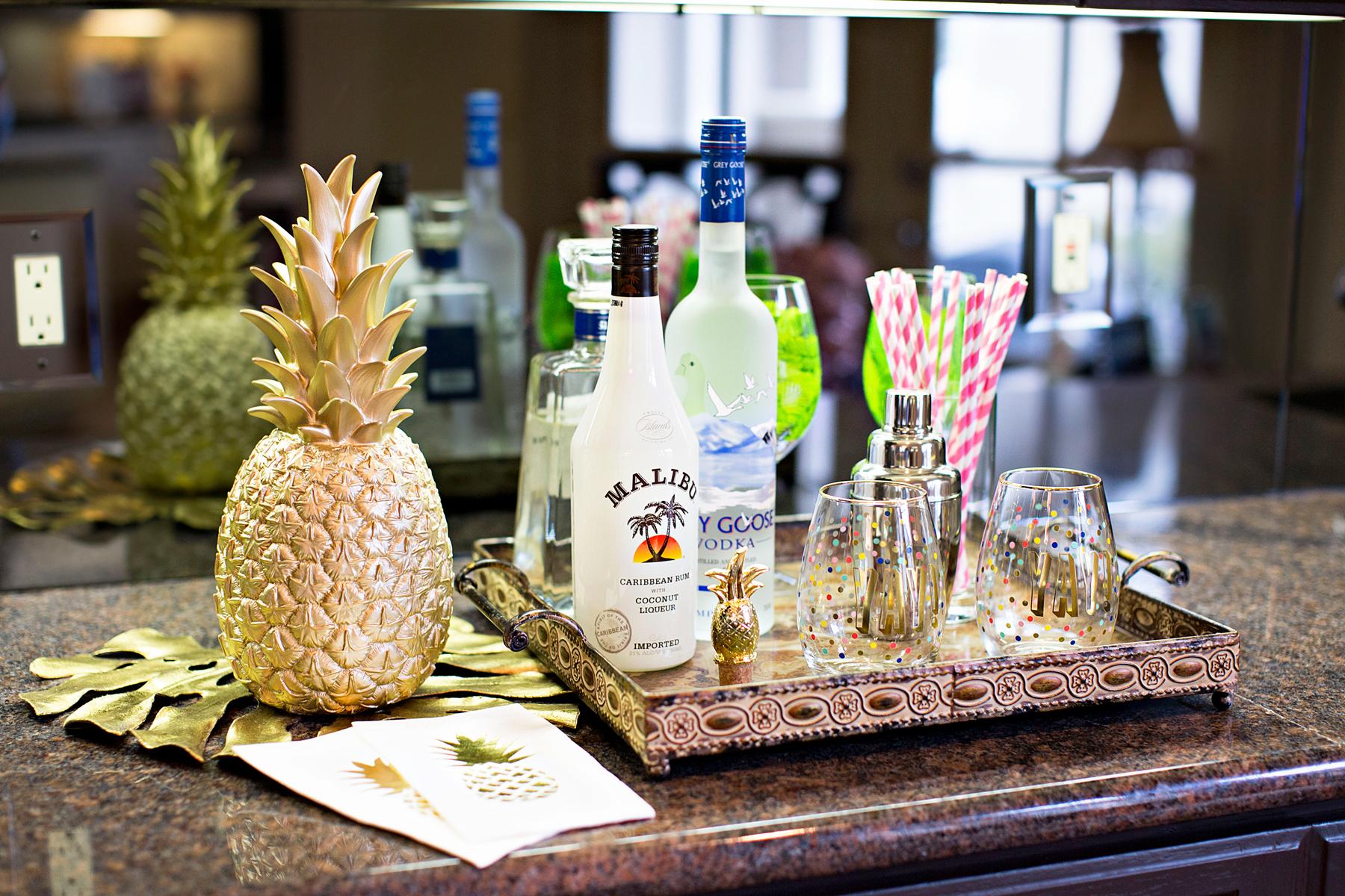 Spring Break Cocktails Featuring Pineapple   The Darling Petite Diva  Nicole Kirk