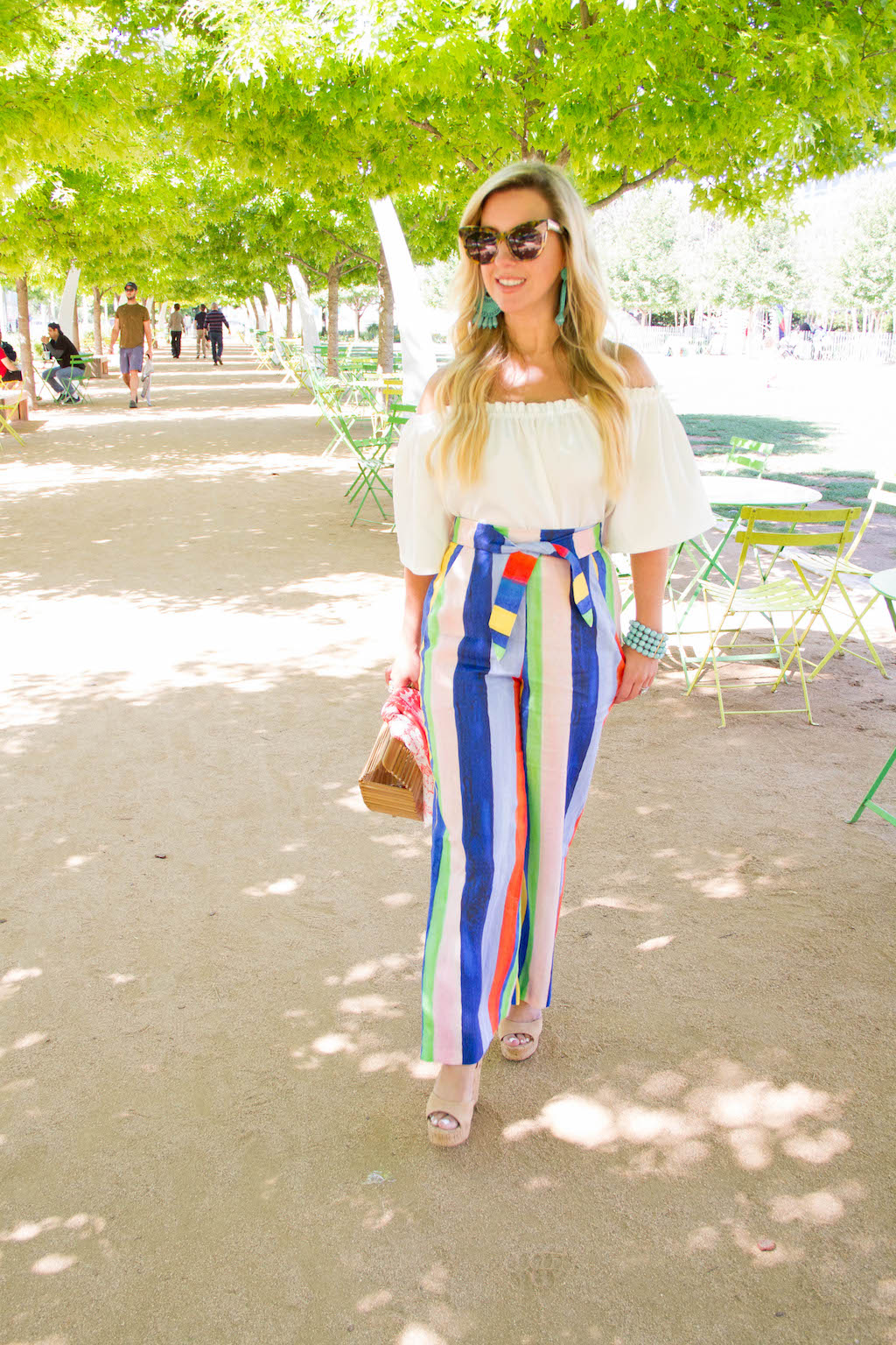 Rainbow Striped Pants | The Darling Petite Diva | Nicole Kirk