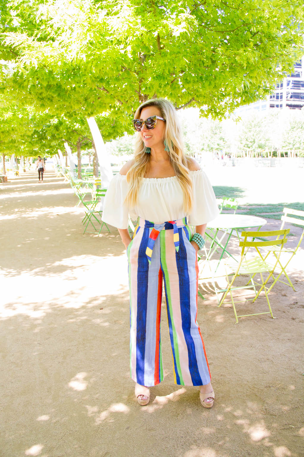 Rainbow Striped Pants   The Darling Petite Diva   Nicole Kirk