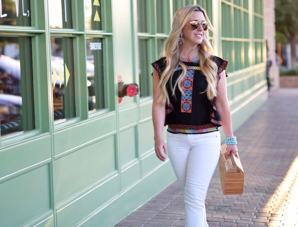 Multicolored Flutter Sleeve Top | The Darling Petite Diva | Nicole Kirk