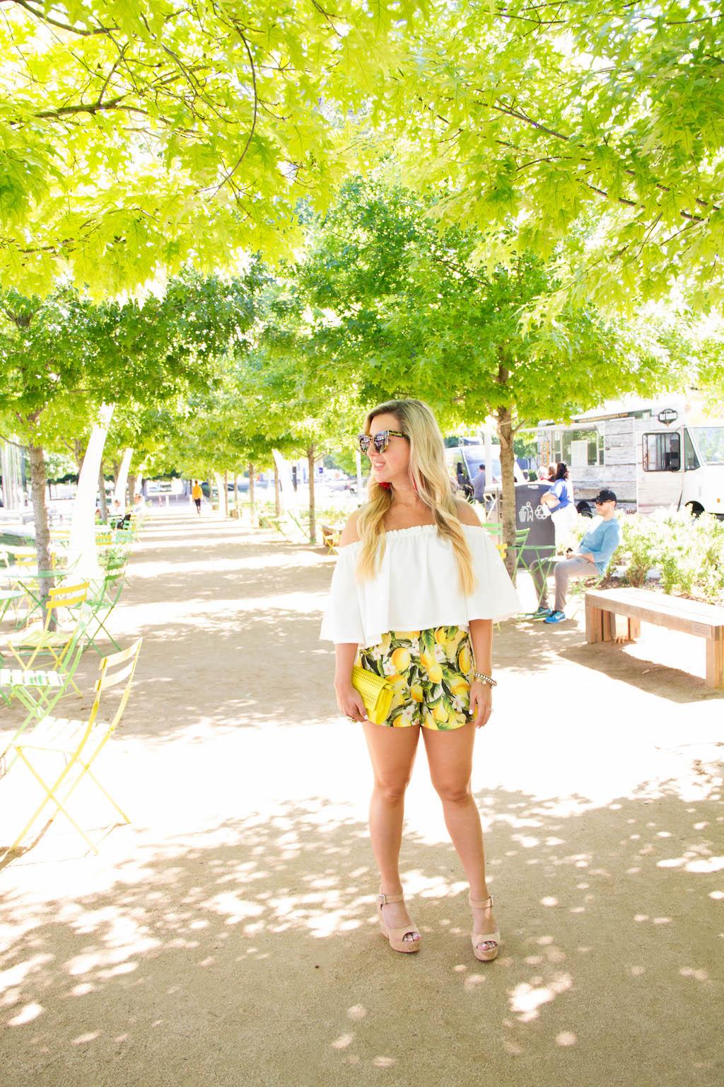 For The Love Of Lemons - Citrus Shorts | The Darling Petite Diva | Nicole Kirk