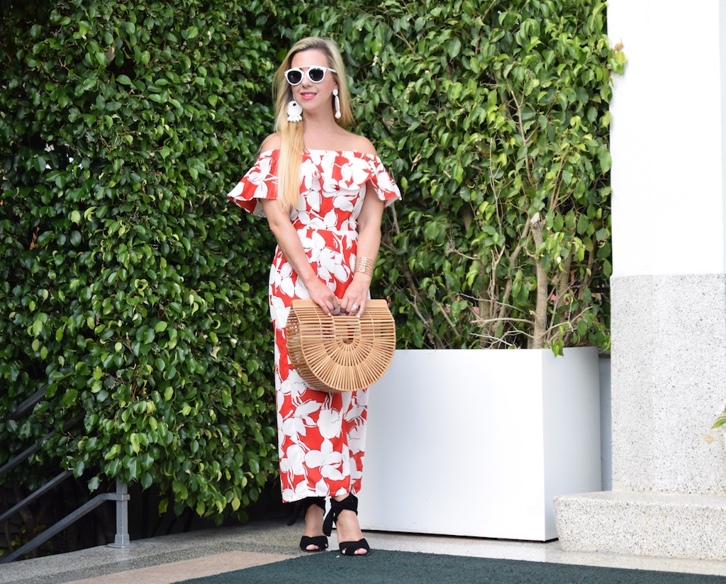 Red Floral Print Jumpsuit | The Darling Petite Diva | Nicole Kirk