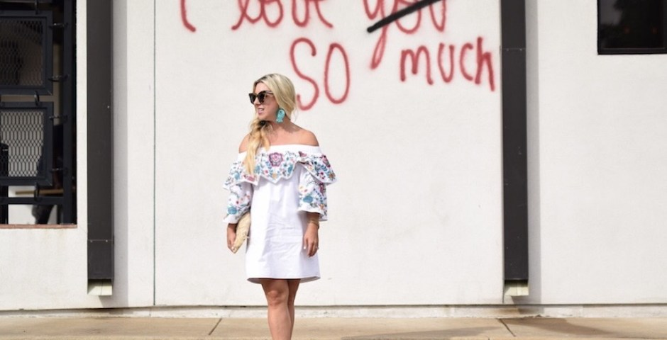 Embroidered Dress   Mexican Food Date Night   The Darling Petite Diva   Nicole Kirk