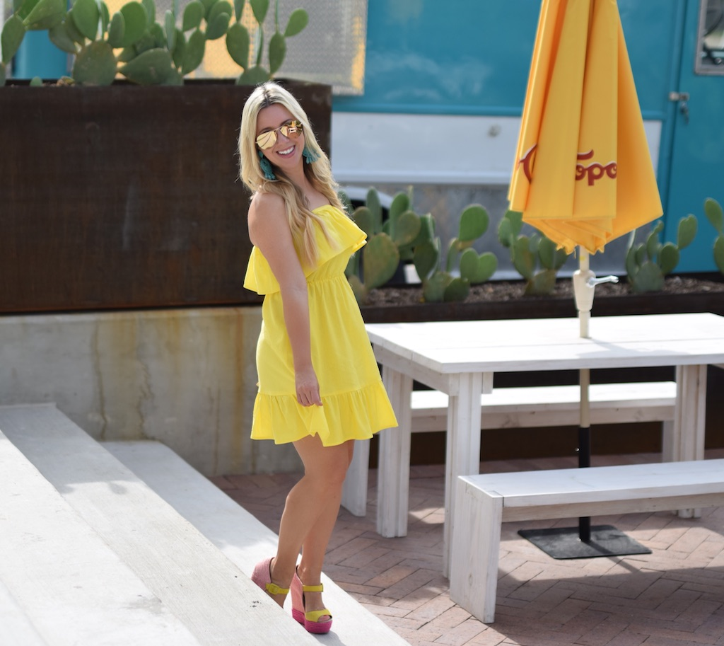 Yellow Sundress / Ruffles /The Darling Petite Diva / Nicole Kirk
