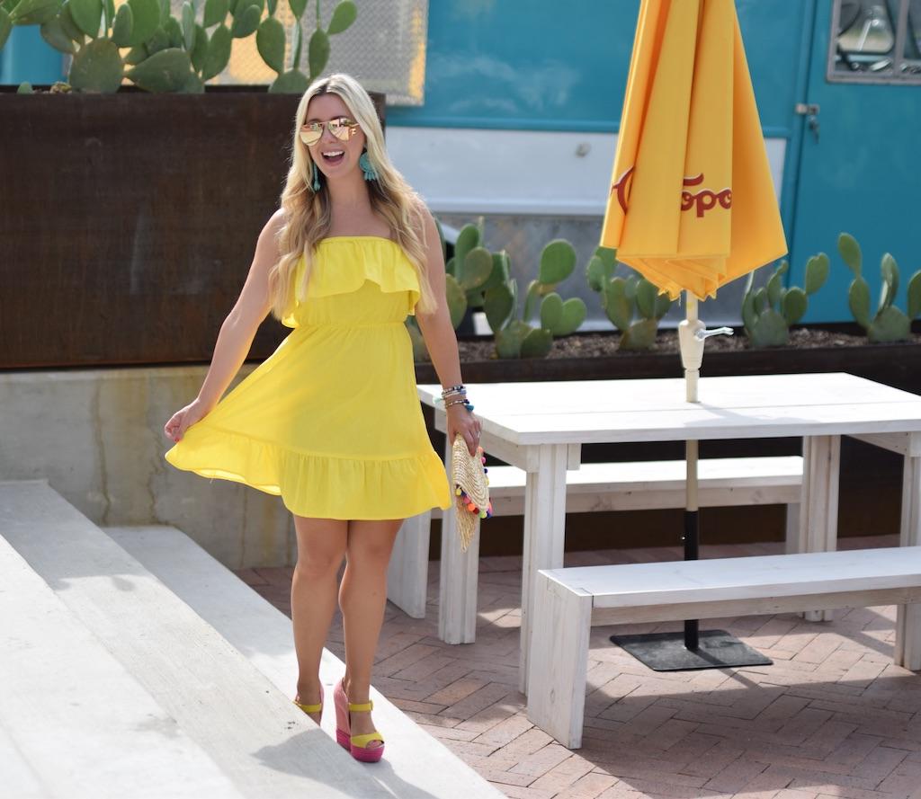 Yellow Ruffle Sundress / The Darling Petite Diva / Nicole Kirk