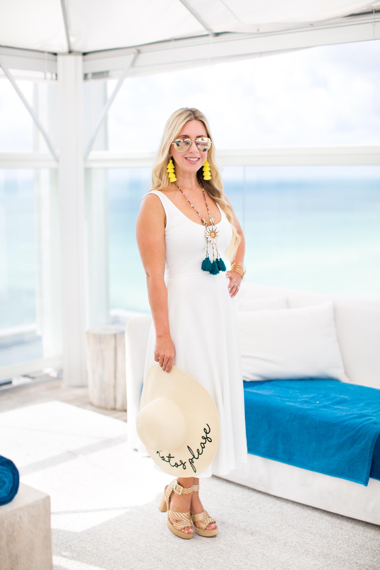 White Midi Dress | The Darling Petite Diva | Dallas Blogger