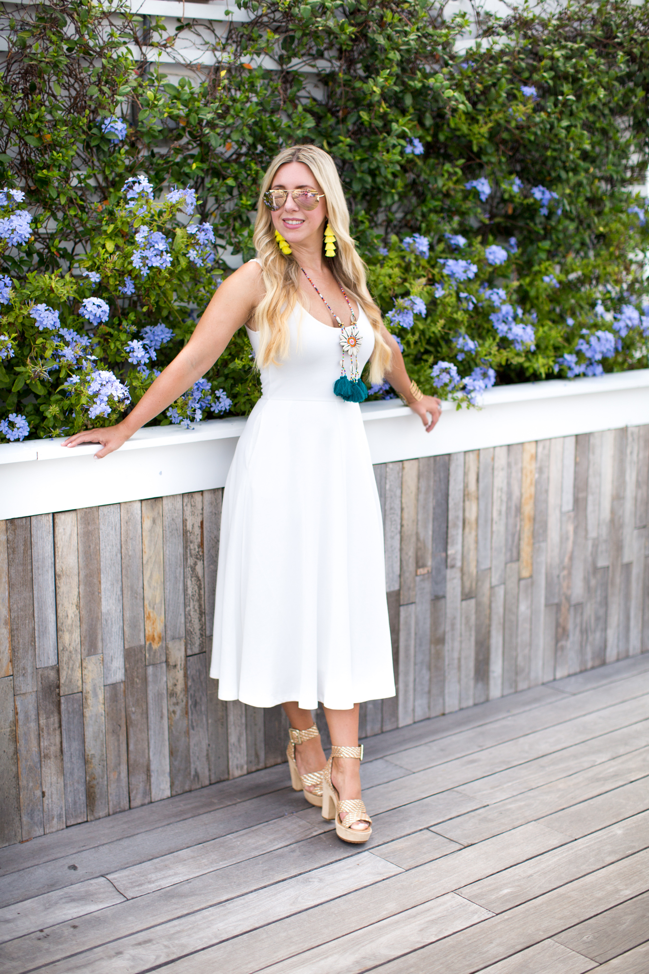 White Midi Dress | The Darling Petite Diva | Dallas Blogger