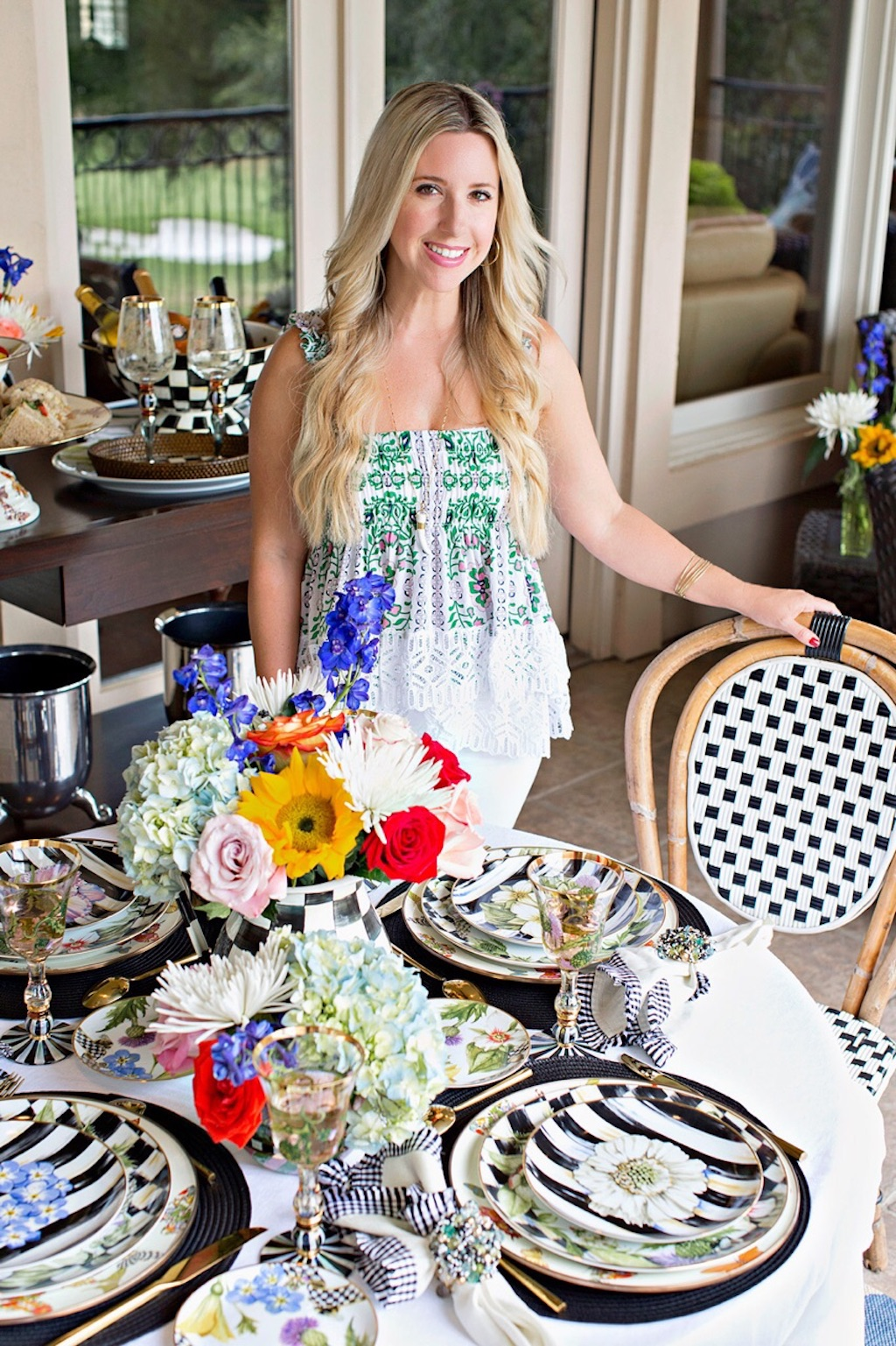 Outdoor Entertaining With MacKenzie-Childs | The Darling Petite Diva