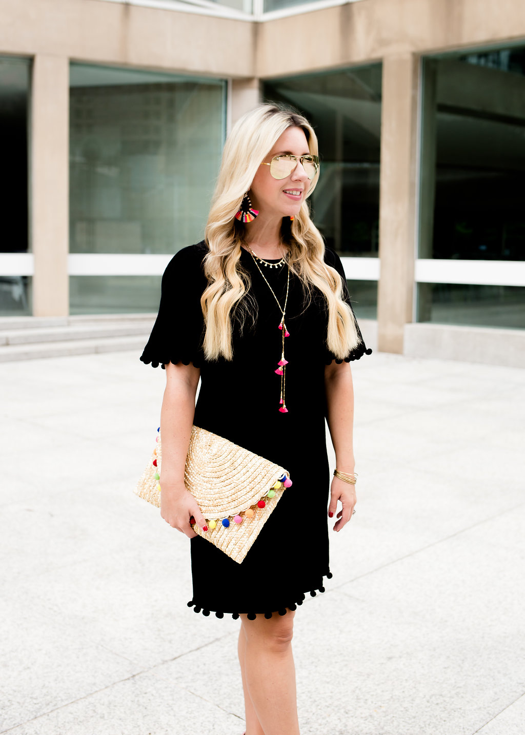 Pom Pom Shift Dress | The Darling Petite Diva | Nicole Kirk