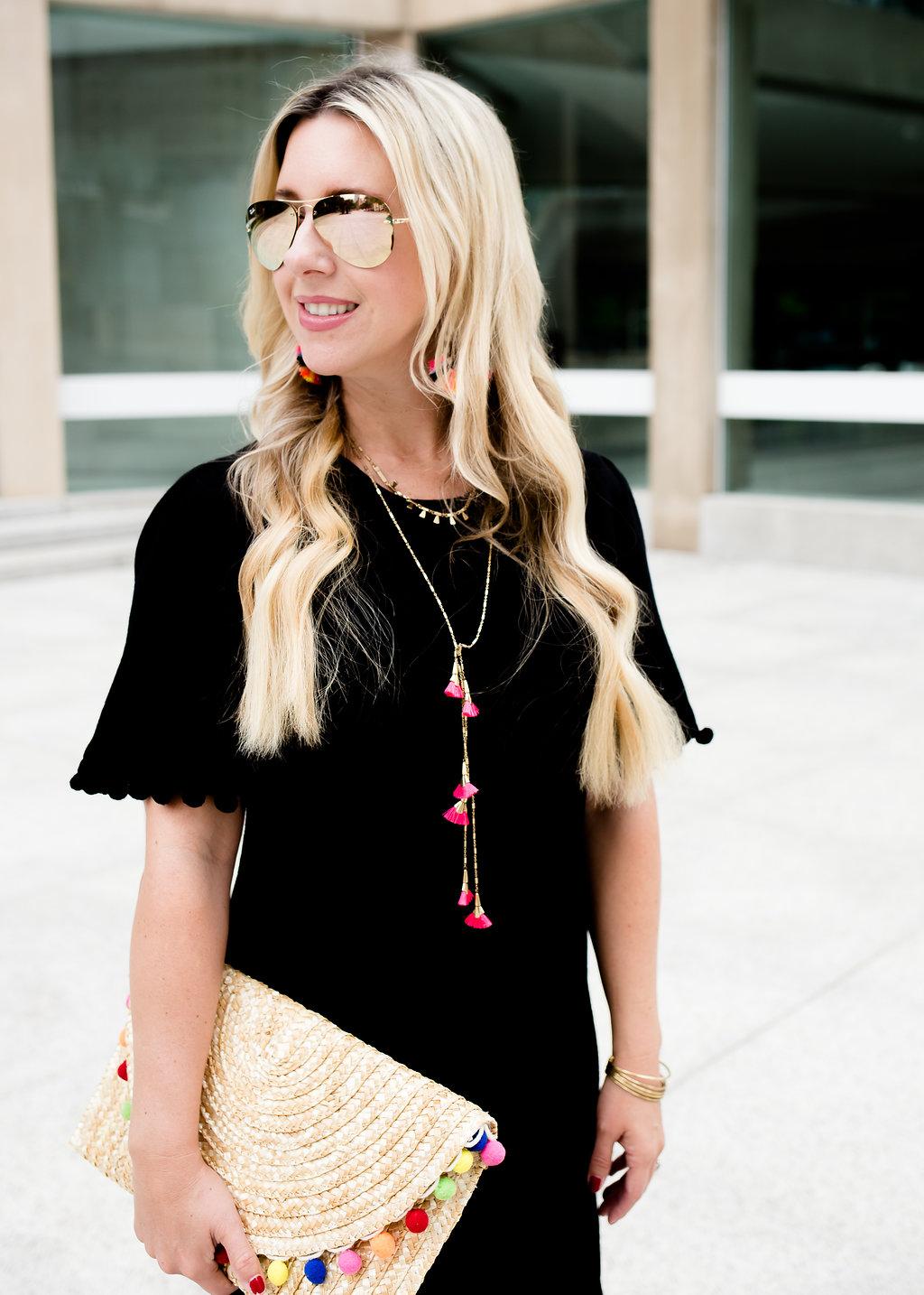 Pom Pom Shift Dress | The Darling Petite Diva | Nicole Kirk