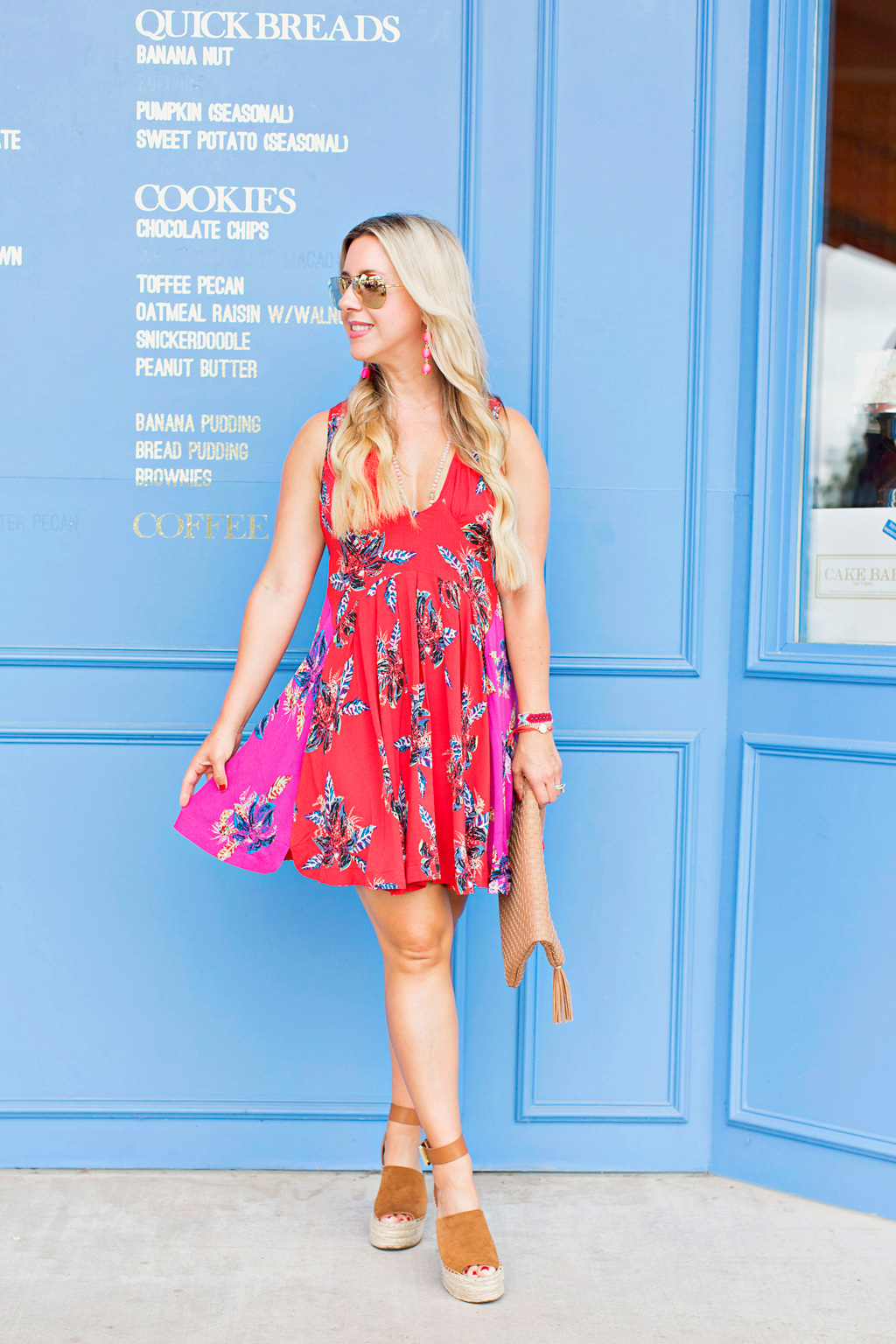 Floral Mini Dress | The Darling Petite Diva | Nicole Kirk | Dallas | Free People
