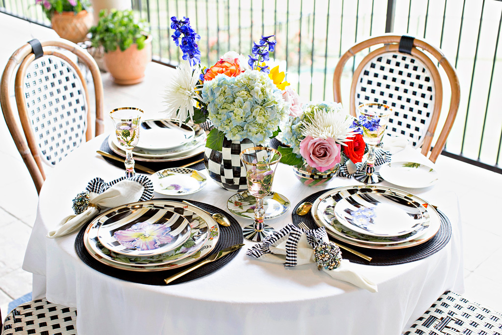Outdoor Entertaining With MacKenzie-Childs   The Darling Petite Diva
