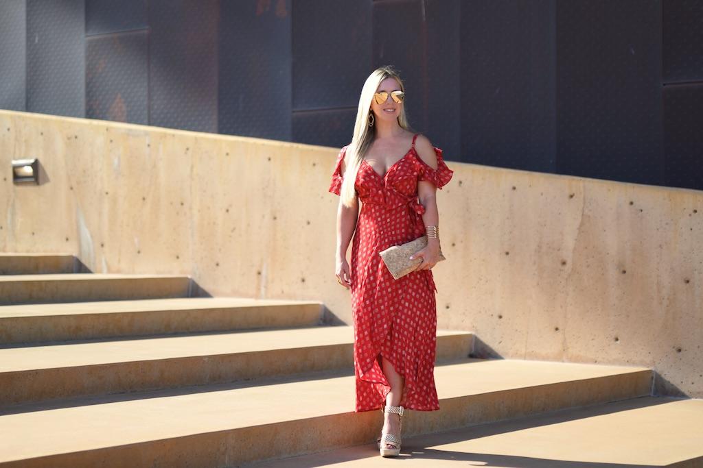 Feeling Grecian | Red Maxi Dress | The Darling Petite Diva