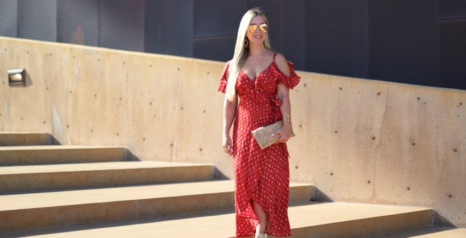Feeling Grecian | Red Maxi Dress | The Darling Petite Diva