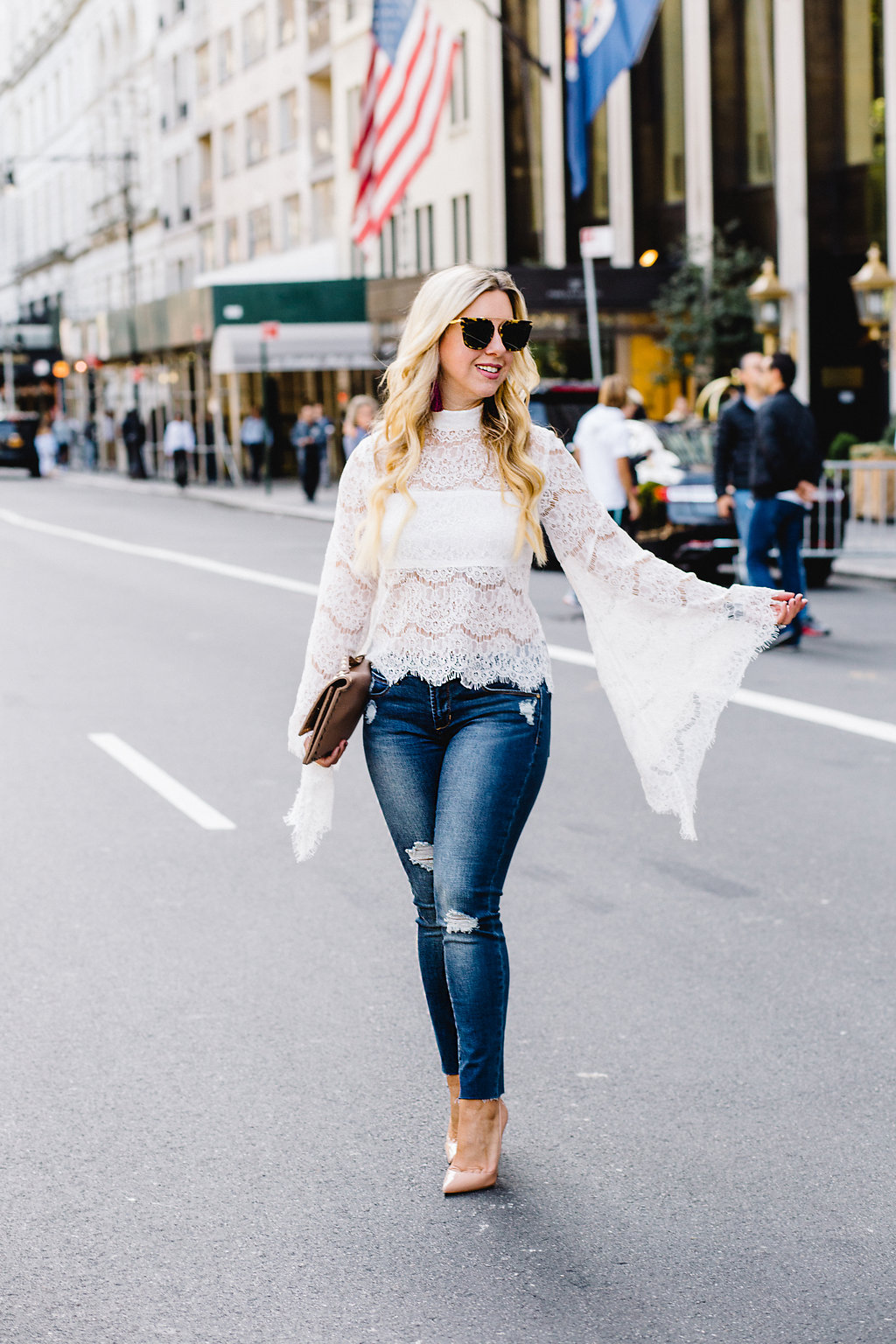 Lace + Bell Sleeves = The Perfect Fall Top