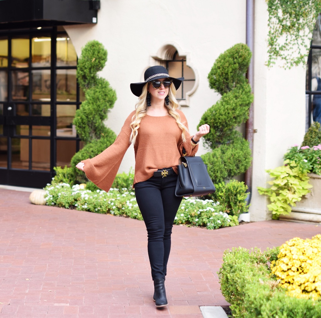 Flare Sleeve Sweater | Fall Look | The Darling Petite Diva