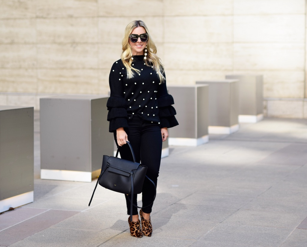 Pearl Embellished Tiered Sleeve Sweater | The Darling Petite Diva | Nicole Kirk