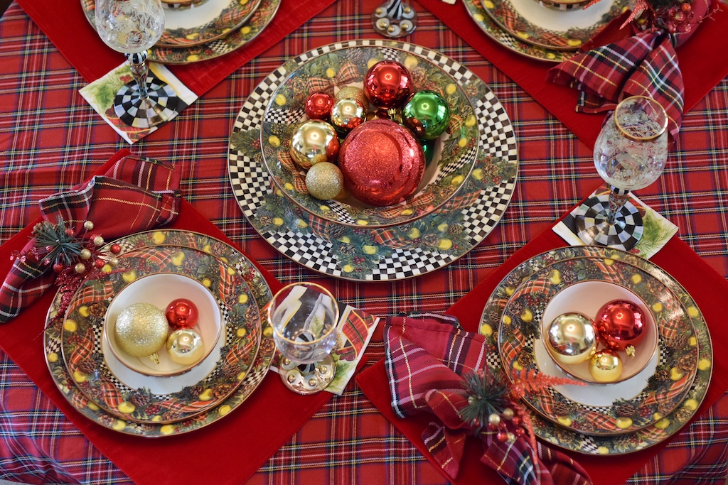 MacKenzie-Childs Christmas Tablescapes | The Darling Petite Diva