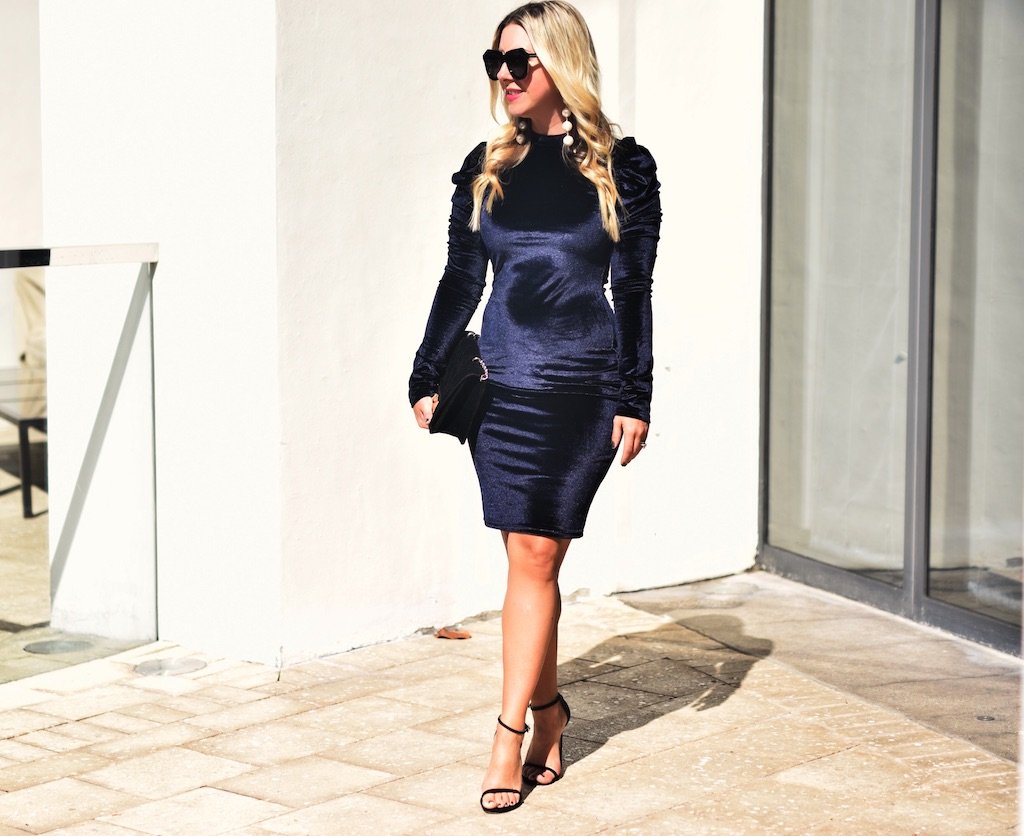 Velvet Pencil Dress | The Darling Petite Diva