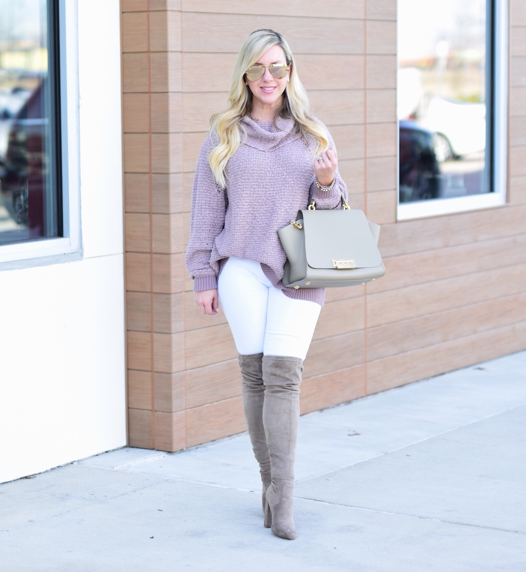 Oversized Cowl Neck Sweater | Winter Look | The Darling Petite Diva | Nicole Kirk
