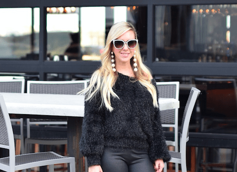Off The Shoulder Feathered Sweater | The Darling Petite Diva