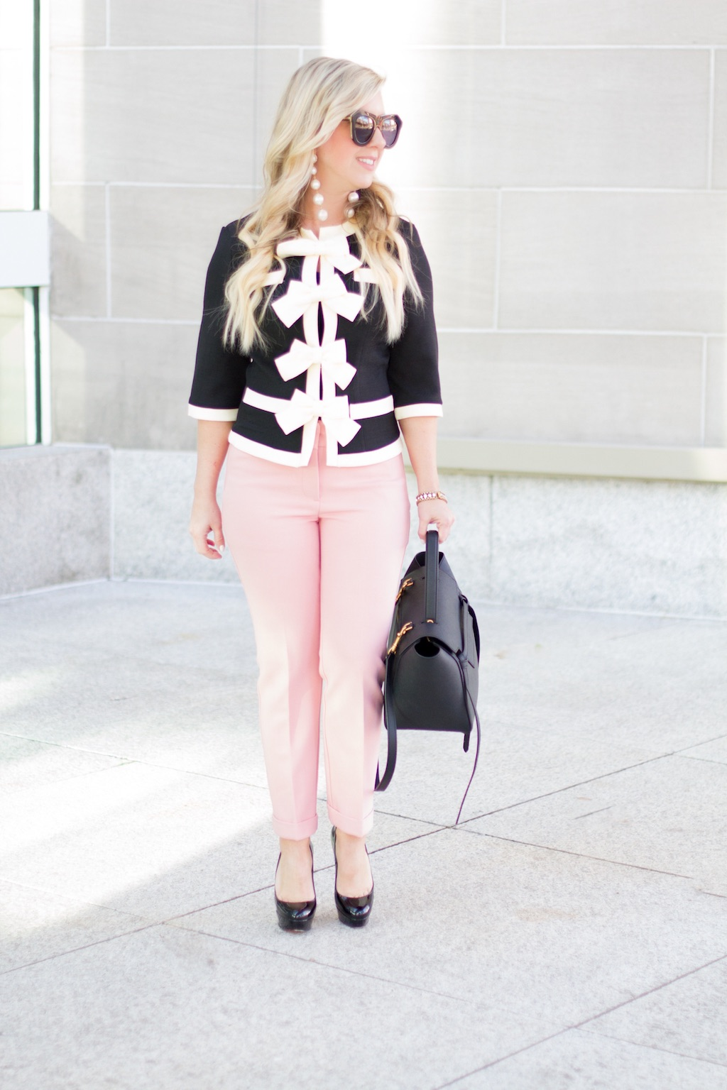 Bow Front Blazer | Work Wear | The Darling Petite Diva