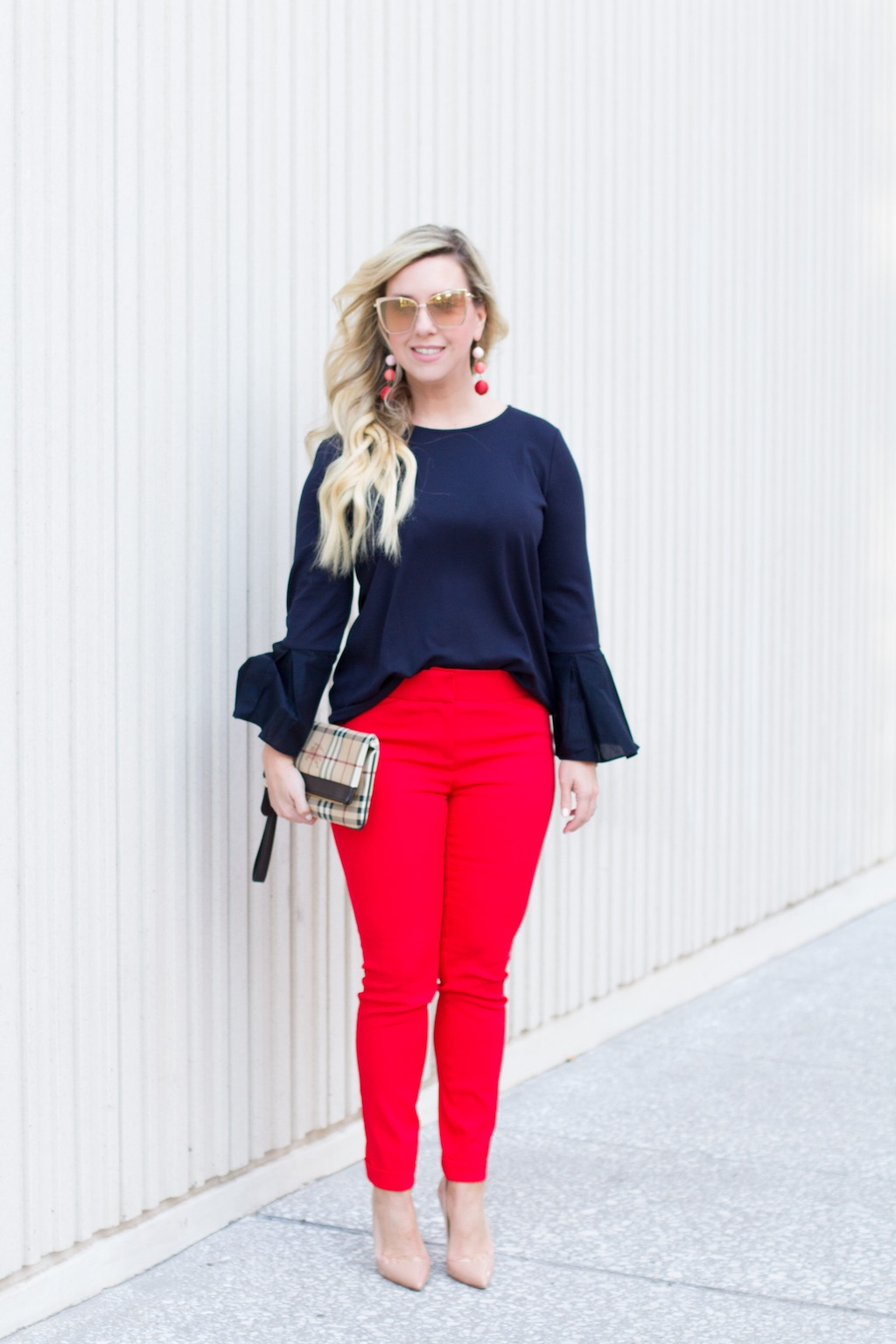 Red Hot, Red Pants | Spring Look | The Darling Petite Diva