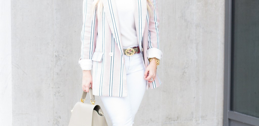 Pink Stripe Spring Blazer
