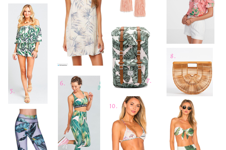 Palm Print | Sprint Break Favorites | The Darling Petite Diva