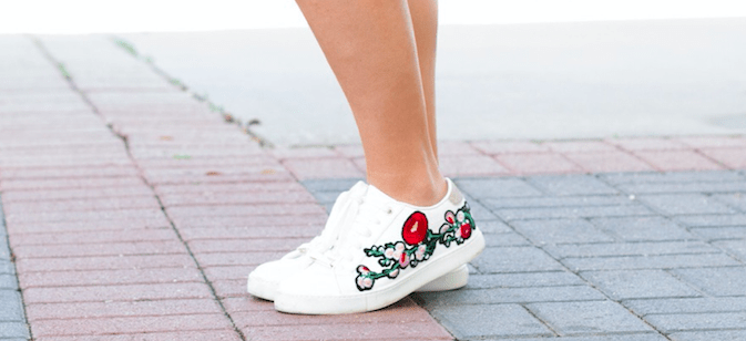 Floral Sneakers | Spring Sneakers | The Darling Petite Diva