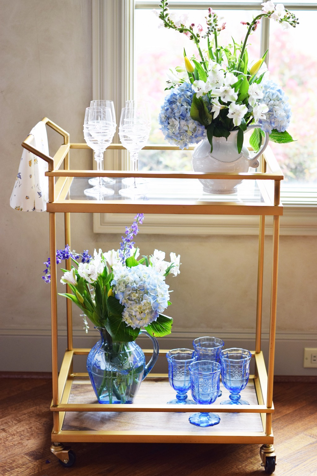 Spring Inspired Bar Cart | Interior Decor| The Darling Petite Diva