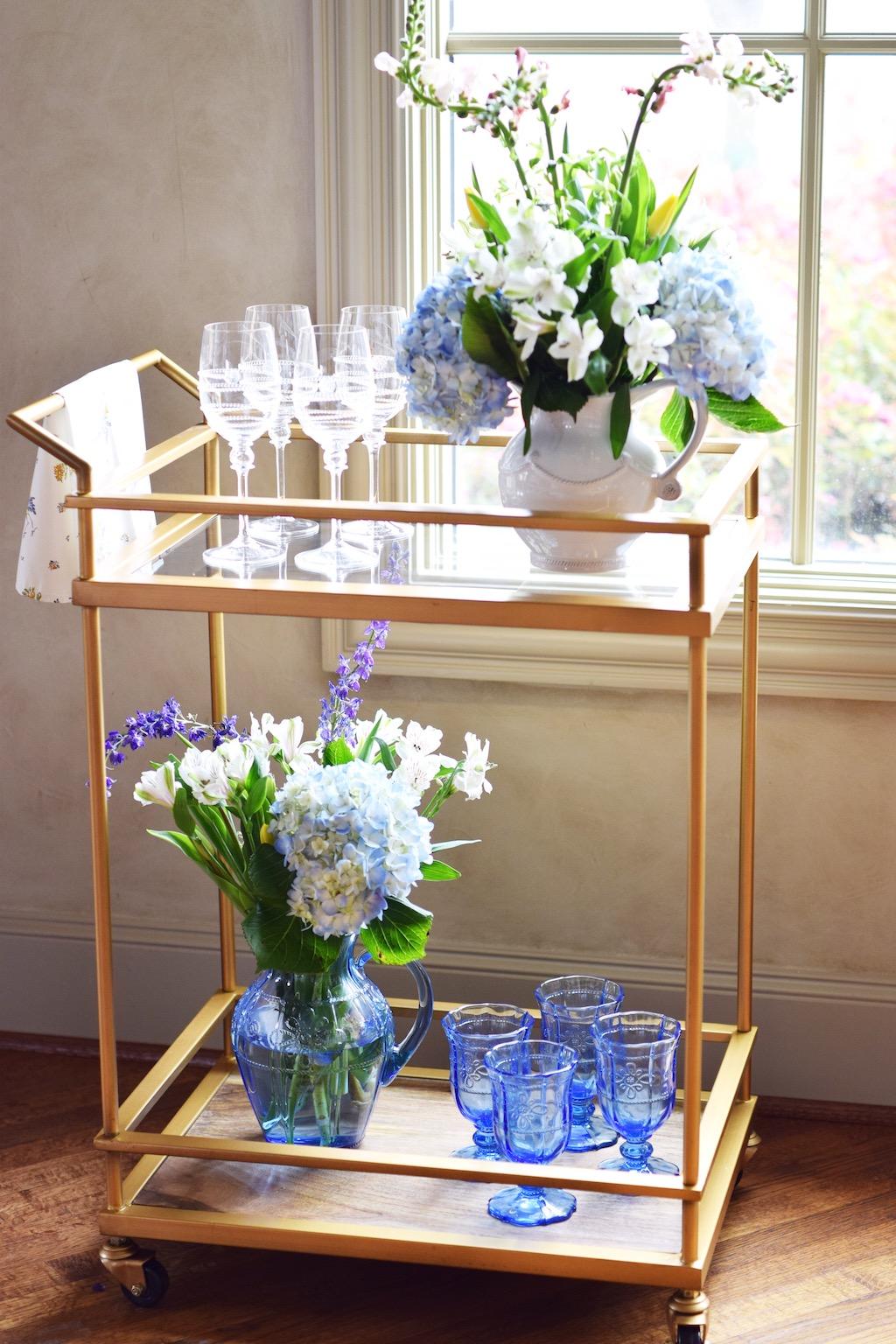 Spring Inspired Bar Cart | Interior Decor| The Darling Petite Diva