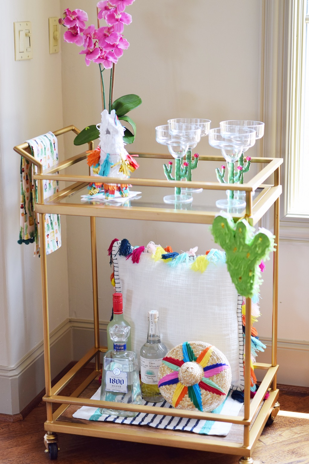 Cinco de Mayo Inspired Bar Cart