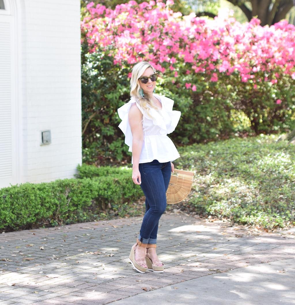Ruffled White Top |The Darling Petite Diva | Spring Top
