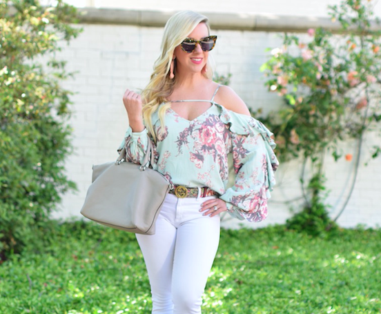 Cold Shoulder Ruffle Top | The Darling Petite Diva